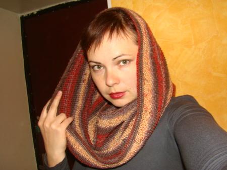 шарф хомут схема вязания.